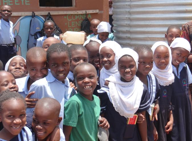 Group of children smiling in Uganda